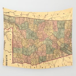 Vintage Map of Alabama (1848) Wall Tapestry