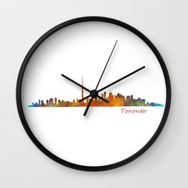 Toronto Canada City Skyline Hq v01 Wall Clock