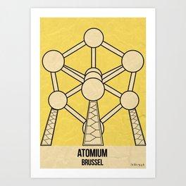 Atomium - Brussel Art Print