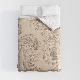 Wave by Katsushika Hokusai 1760–1849, Japanese Comforters