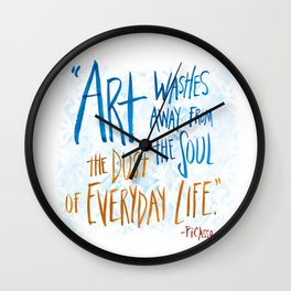 Picasso Quote Wall Clock
