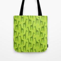 Giraffes-Green Tote Bag