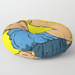 Latina Rosie The Riveter Floor Pillow