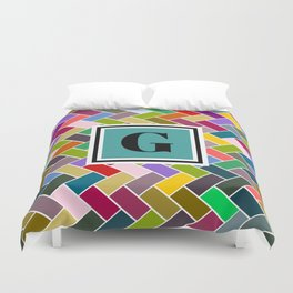 G Monogram Duvet Cover