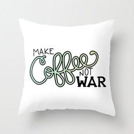 Coffee Not War (Seaside) Throw Pillow