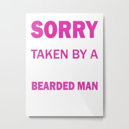 Sexy Bearded Man Metal Print