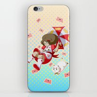 puppycat iPhone & iPod Skins featuring Bee and Puppycat by Artist Meli