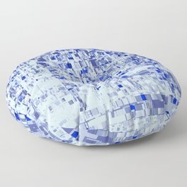 Abstract Architecture Blue Floor Pillow