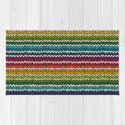 Rainbow knitted stripes by ireneart