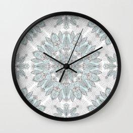 Ice Mandala Wall Clock