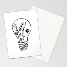 Let Your Light(bulb) Shine Stationery Cards