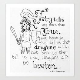 Beat Those Dragons Art Print