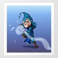 bender Art Prints featuring Water Bender by MDDesigns