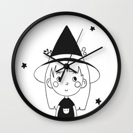 Black & White Witch Wall Clock