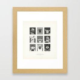 Super Mercredi Bros Heroes (8/8) Framed Art Print