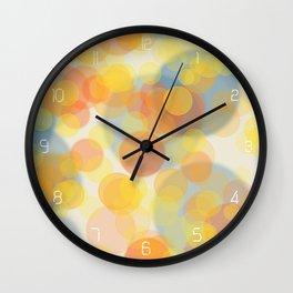 Sunny bubbles Wall Clock