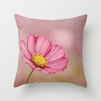 blossom Throw Pillows featuring blossom by Iris Lehnhardt