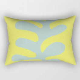 Oak Leaf — Bluegrey Rectangular Pillow
