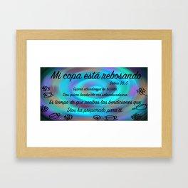 tazas twist - Salmo 23, 5 Framed Art Print