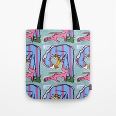 Bear Man with Pet Fledgling Tote Bag