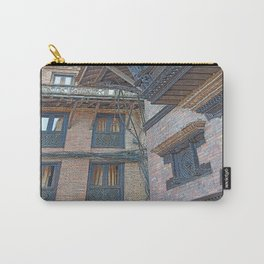BHAKTAPUR NEPAL BRICKS WINDOWS WIRES Carry-All Pouch