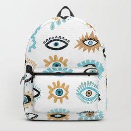 Evil Eye Illustration Backpack