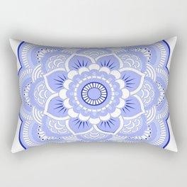 Periwinkle Mandala Flower Rectangular Pillow