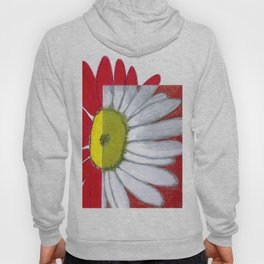 Daisies in red Hoody