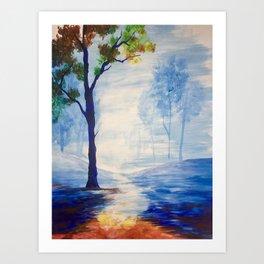 Rainbow Forest Art Print
