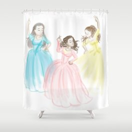 Sisters at Work Shower Curtain
