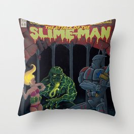 Tales from the sewer Attack of the Slime Man! Throw Pillow
