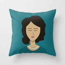 Señorita with a Necklace of Tears Throw Pillow