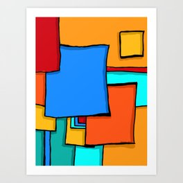 Cargo Ship Containers 11 Art Print