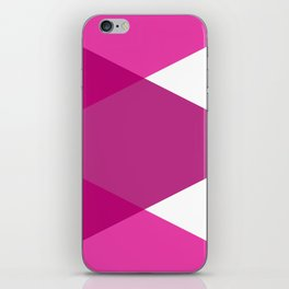 Pink Purple and White Abstract Triangles iPhone Skin