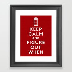 Keep Calm and Figure Out When Framed Art Print