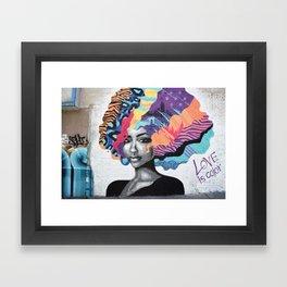 Love is color Framed Art Print