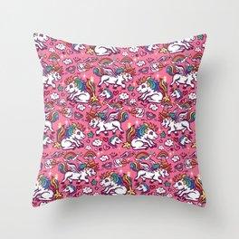 Baby unicorns Throw Pillow