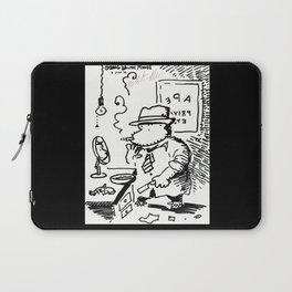 Hard-Boiled Detective Ape Shaves at the Office Laptop Sleeve
