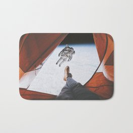 Camping in space Bath Mat