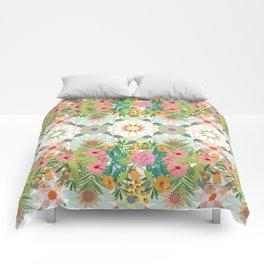 floral zellij ntropical Comforters