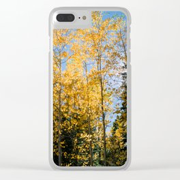 Aspen Forest Clear iPhone Case