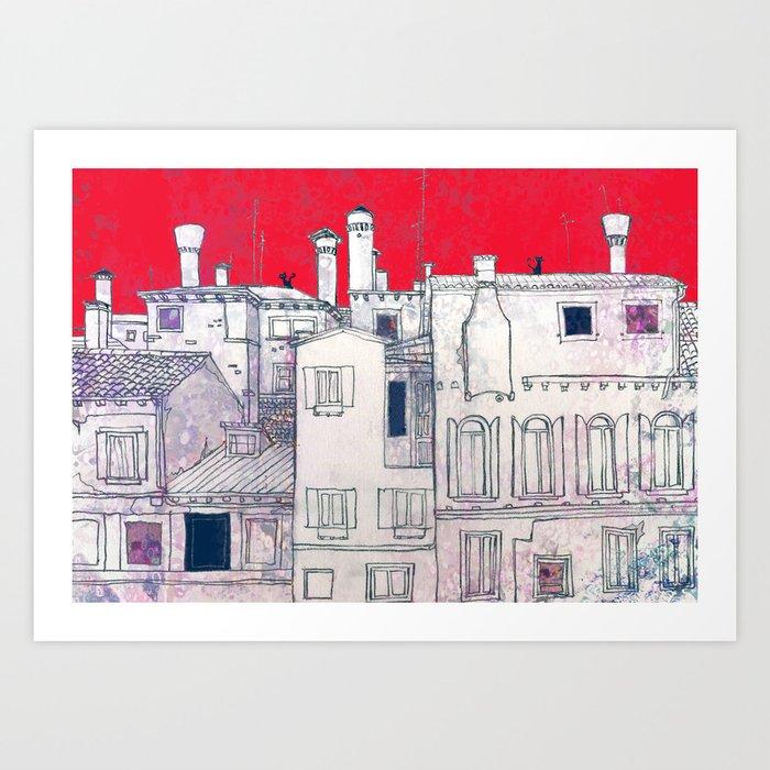 architectural sketch Art Print
