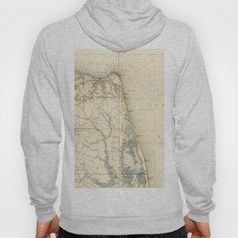 Vintage Map of Norfolk and Virginia Beach (1891) Hoody