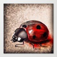 ladybug Canvas Prints featuring Ladybug by Werk of Art