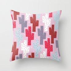 Sweet cactus pattern Throw Pillow