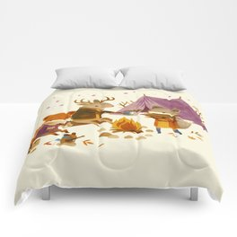 Critters: Fall Camping Comforters