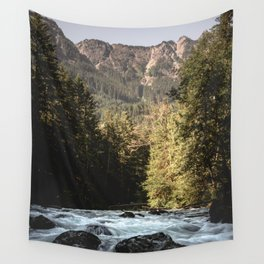 Mountain River Run Wall Tapestry