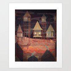 Tonle Sap Lake Art Print