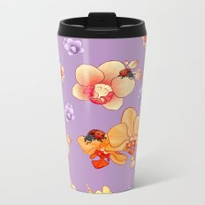 Orchids & Ladybirds Metal Travel Mug