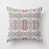 ikat Throw Pillows featuring Ikat  by bunglo by shay spaniola